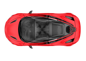 Top of a modern sport car