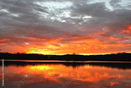 Foto op Aluminium Oranje eclat morning sunrise