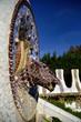 Park Guell - fountain mosaic sculpture in Barcelona.