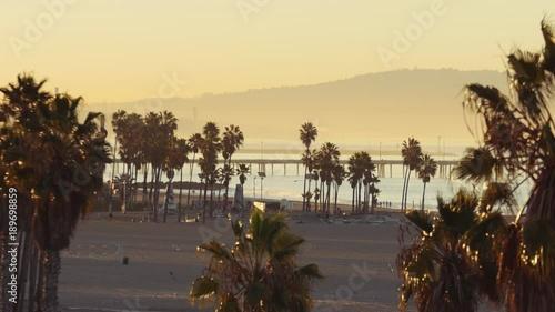 Venice Beach Skate Park & Pier at Sunrise - Los Angeles City Landscape