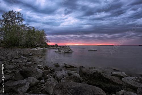 Fotobehang Strand Helca Sunset