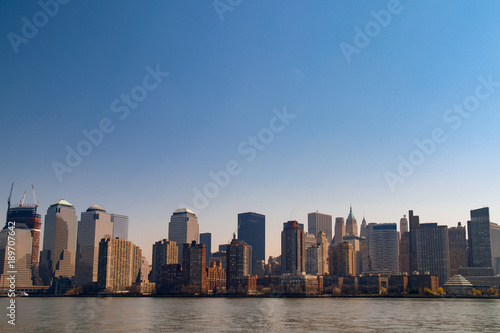 Foto op Canvas New York Lower Manhattan from the Hudson River
