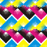 Seamless geometric pattern. Bright colors and simple shapes. Trendy seamless pattern designs.