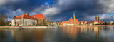 Cathedral Island in Wroclaw, Poland, panoramic image