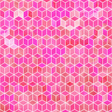Watercolor mosaic. Bright summer pattern with watercolor cubes. - 189731842