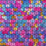 Watercolor mosaic. Bright summer pattern with watercolor cubes. - 189731896