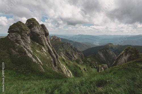 Fotobehang Bleke violet Ciucas Mountains