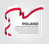 Poland flag background - 189743466