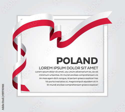 Fototapeta Poland flag background