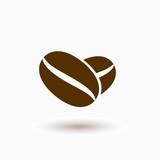 Coffee bean vector icon, caffeine symbol. Modern, simple flat vector illustration