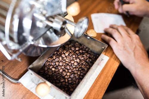 Papiers peints Café en grains Coffee roasting, coffee toasting