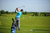 Golfer in action