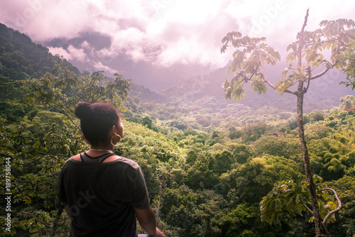 Fotobehang Lichtroze Landscape around Minca, Colombia