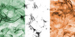 Ireland smoke flag - 189761285