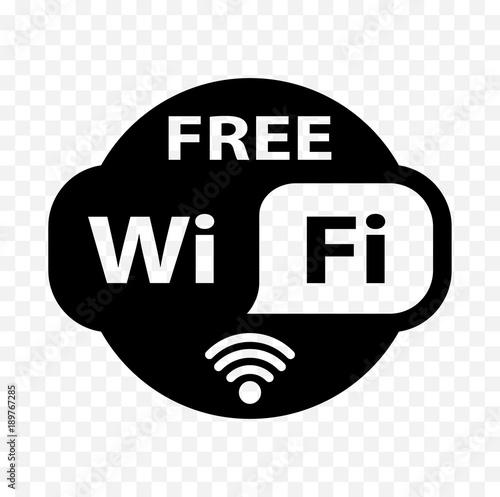 free wifi sticker, free wi-fi icon, free wi fi label sign