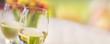 Leinwanddruck Bild - Weißwein Frühling