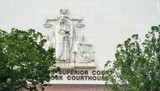 Superior court facade in downtown Los Angeles - 189776257
