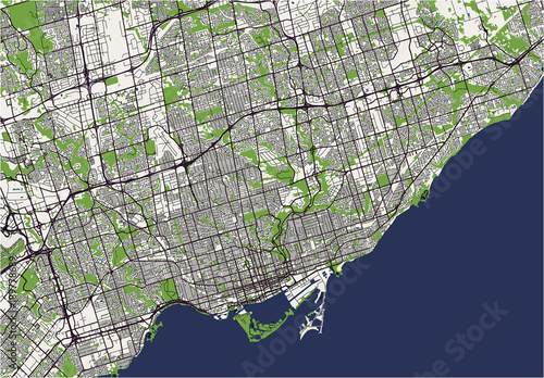 vector map of the city of Toronto, Canada | Buy Photos | AP Images ...