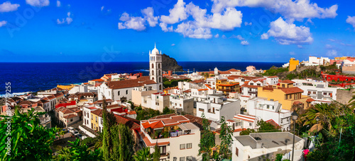 Fotobehang Freesurf landmarks of Tenerife - colorful town Garachico. Canary islands of Spain
