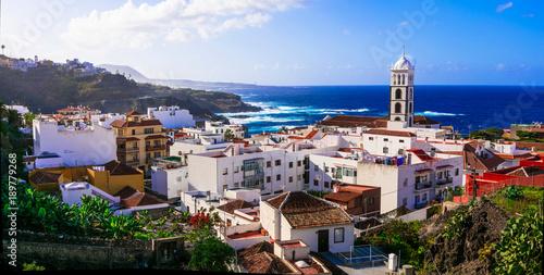 Fotobehang Freesurf Tenerife holidays and landmarks - beautiful coastal town Garachico, Canary islands of Spain