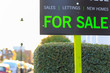 For Sale sign displayed on London street