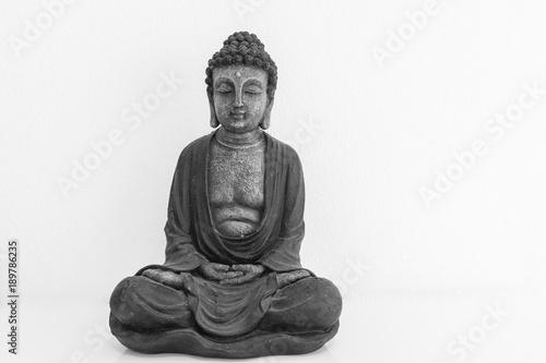 Aluminium Boeddha Buddha - Statue Buddhismus mit Textfreiraum