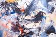 canvas print picture - Öl gemalter Abstrakter Hintergrund