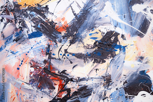 canvas print picture Öl gemalter Abstrakter Hintergrund