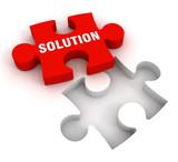 solution puzzle  3d illustration