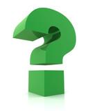 question mark concept  3d illustration