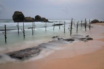 Die Stelzenfischer bei Koggala in Sri Lanka