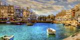 Beautiful Malta,buildings and boats - 189840883