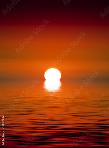 Fotobehang Rood traf. Golden Sunset