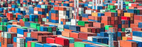 Aluminium Containerhafen Panorama Hintergrund