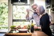 Leinwandbild Motiv Senior couple