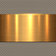 Background gold, polished metal texture