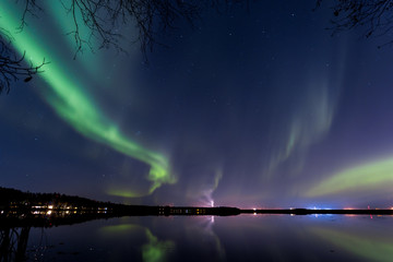 northern lights in Oulu finland