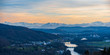 Quadro Blick auf Wildegg und die Schweizer Alpen