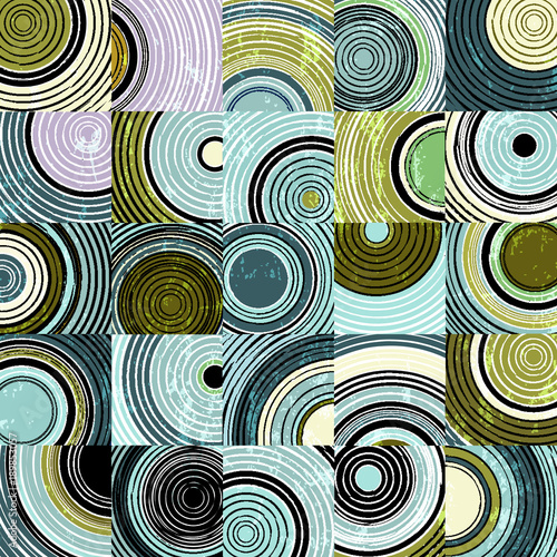 Fotobehang Abstract met Penseelstreken abstract background pattern with circles, squares, strokes and splashes,vector