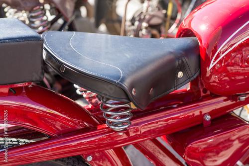 Fotobehang Fiets Old saddle type seat