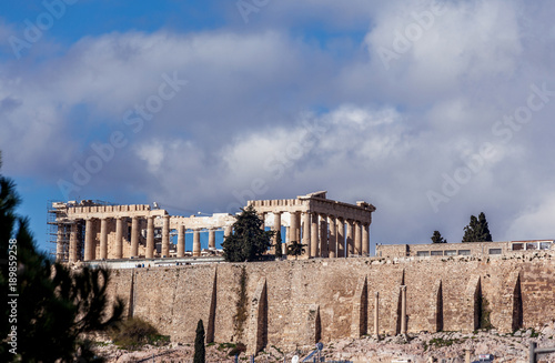 Keuken foto achterwand Athene The famous Parthenon temple, at the Acropolis of Athens, Greece, the birthplace of democracy.