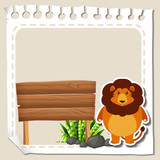 Paper template with lion - 189864436