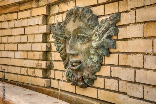 Belgrade, Serbia April 04, 2016: Restored fountain in Skadarlija