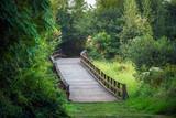 Wooden Bridge Over Meadow - 189865244