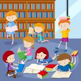 Many students readin...