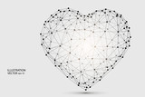 Abstract polygonal heart. Valentine's day. Vector EPS 10.