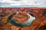 Horseshoe Bend with Clouds
