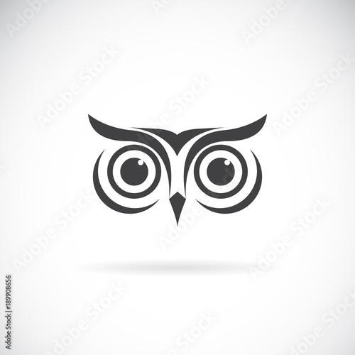 Vector of an owl face design on white background. Bird logo. Wild Animals. Easy editable layered vector illustration.