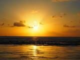 Sunset ile de Fakarava, archipel des Tuamotus