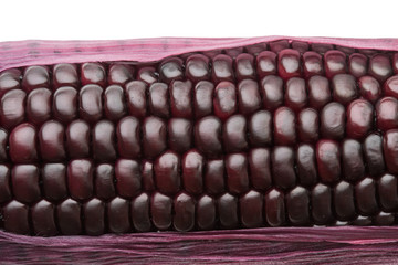 purple corn isolated on white background